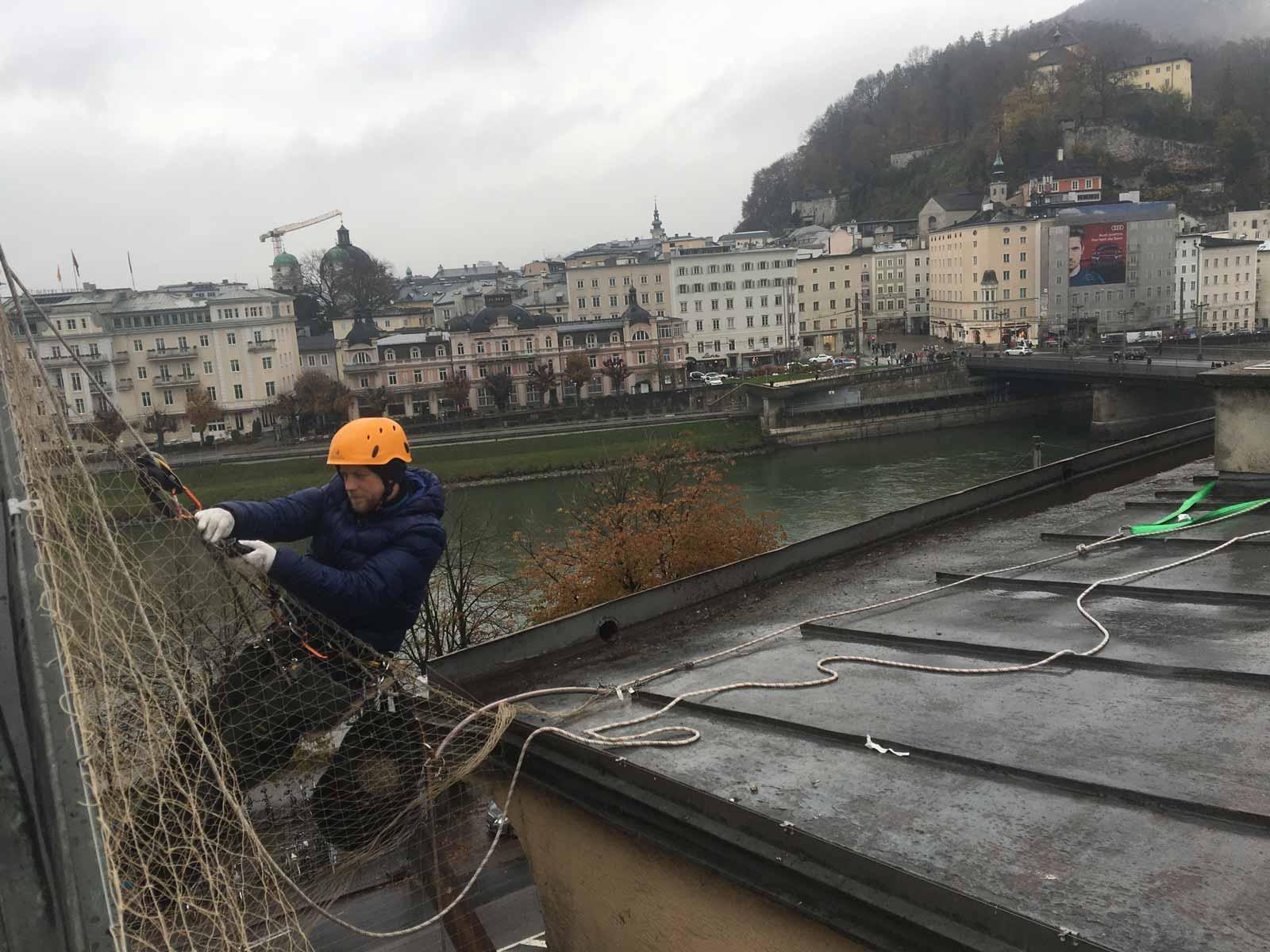 taubennetz installation salzburg